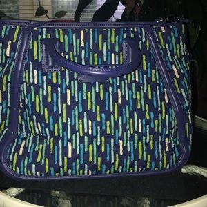 Vera Bradley Tote @ organizer blue leather strap